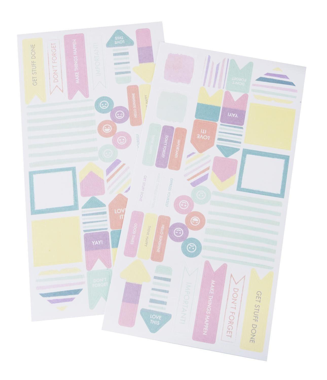 """Stickerbogen """"Pastell"""" 2 Bogen mit 68 Sticker"""