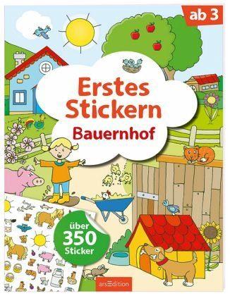 Broschiertes Buch »Erstes Stickern Bauernhof«