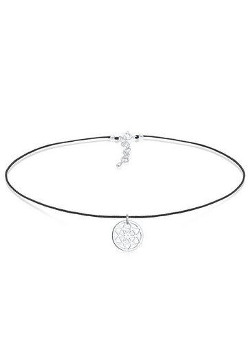 Elli Collierkettchen »Choker Ornament Trend Band 925 Silber«