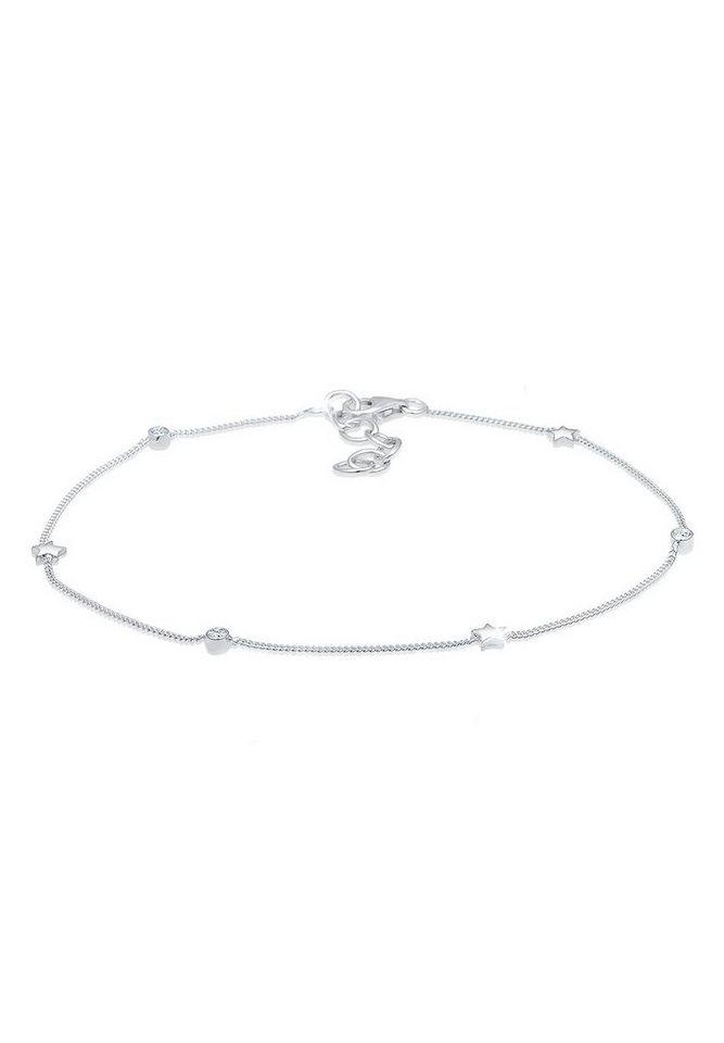 Elli Fußkette »Sterne Solitär Swarovski® Kristalle 925 Silber« | Schmuck > Fußschmuck | Elli