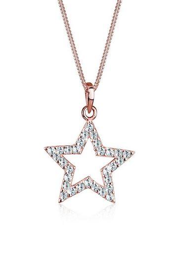 Elli Collierkettchen »Stern Swarovski® Kristalle 925 Sterling Silber«