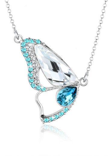 Elli Collierkettchen »Schmetterling Swarovski® Kristalle Sterling Silber«