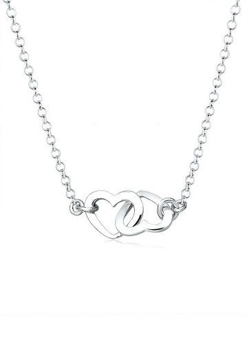 Elli Collierkettchen »Herzen Liebe Verbunden 925 Sterling Silber«