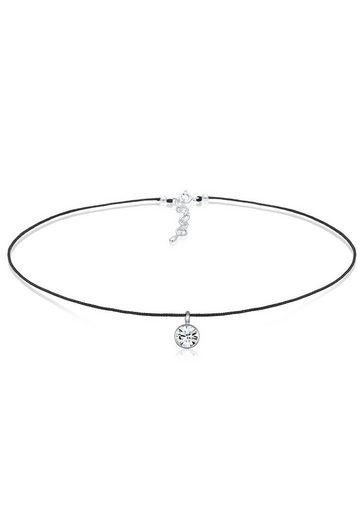 Elli Collierkettchen »Basic Choker Swarovski® Kristalle 925 Silber«