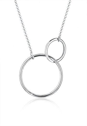 Elli Collierkettchen »Kreis Rund Ring Schlicht 925 Silber«