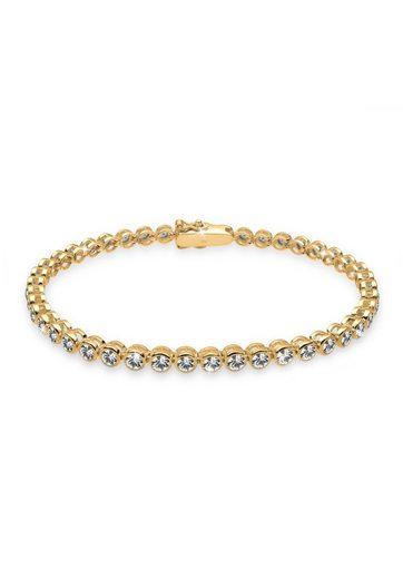 Elli Armband »925 Sterling Silber vergoldet Swarovski Kristalle«