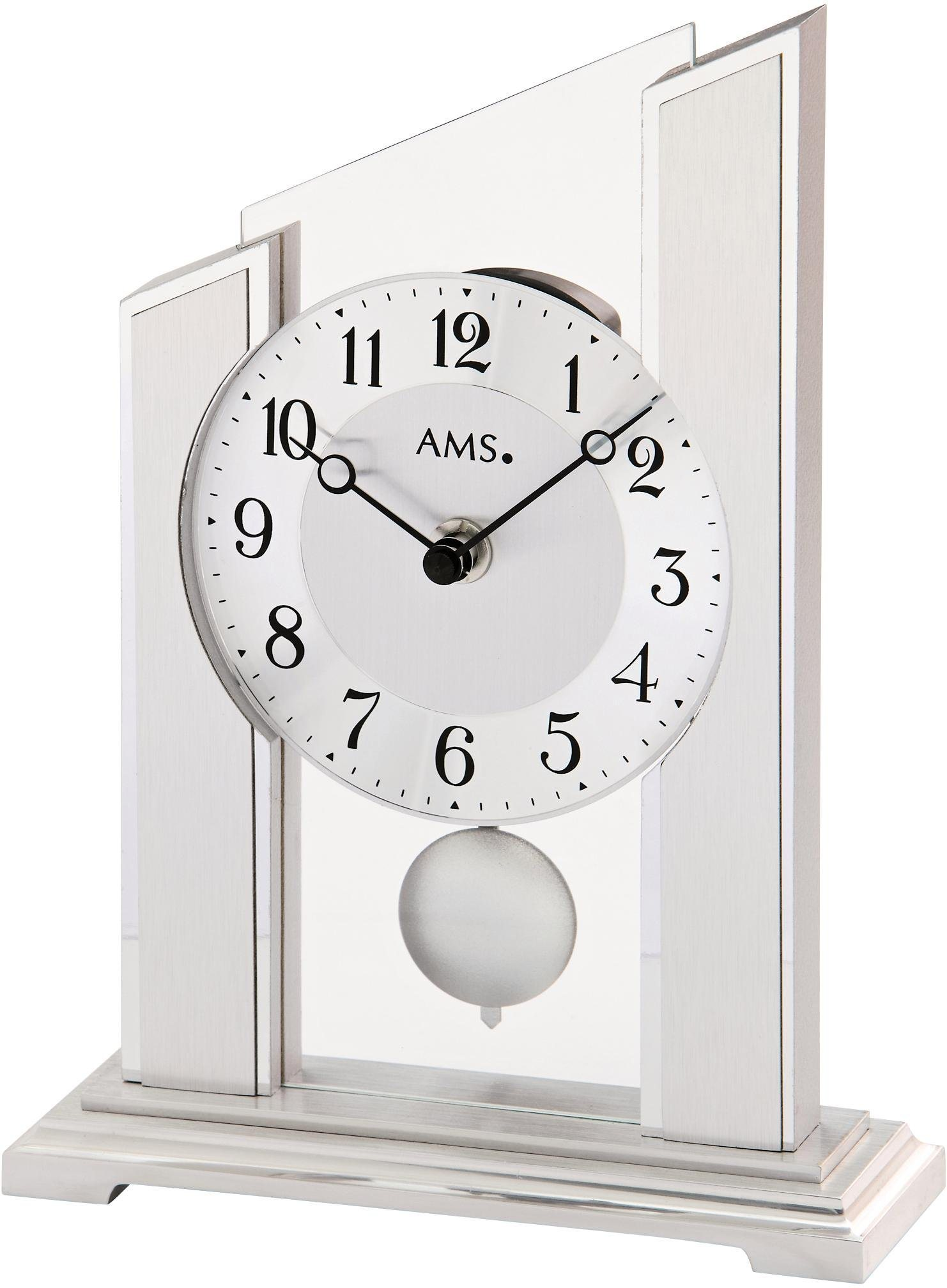 AMS Pendeltischuhr »T1169« | Dekoration > Uhren > Standuhren | Holz - Glas | AMS