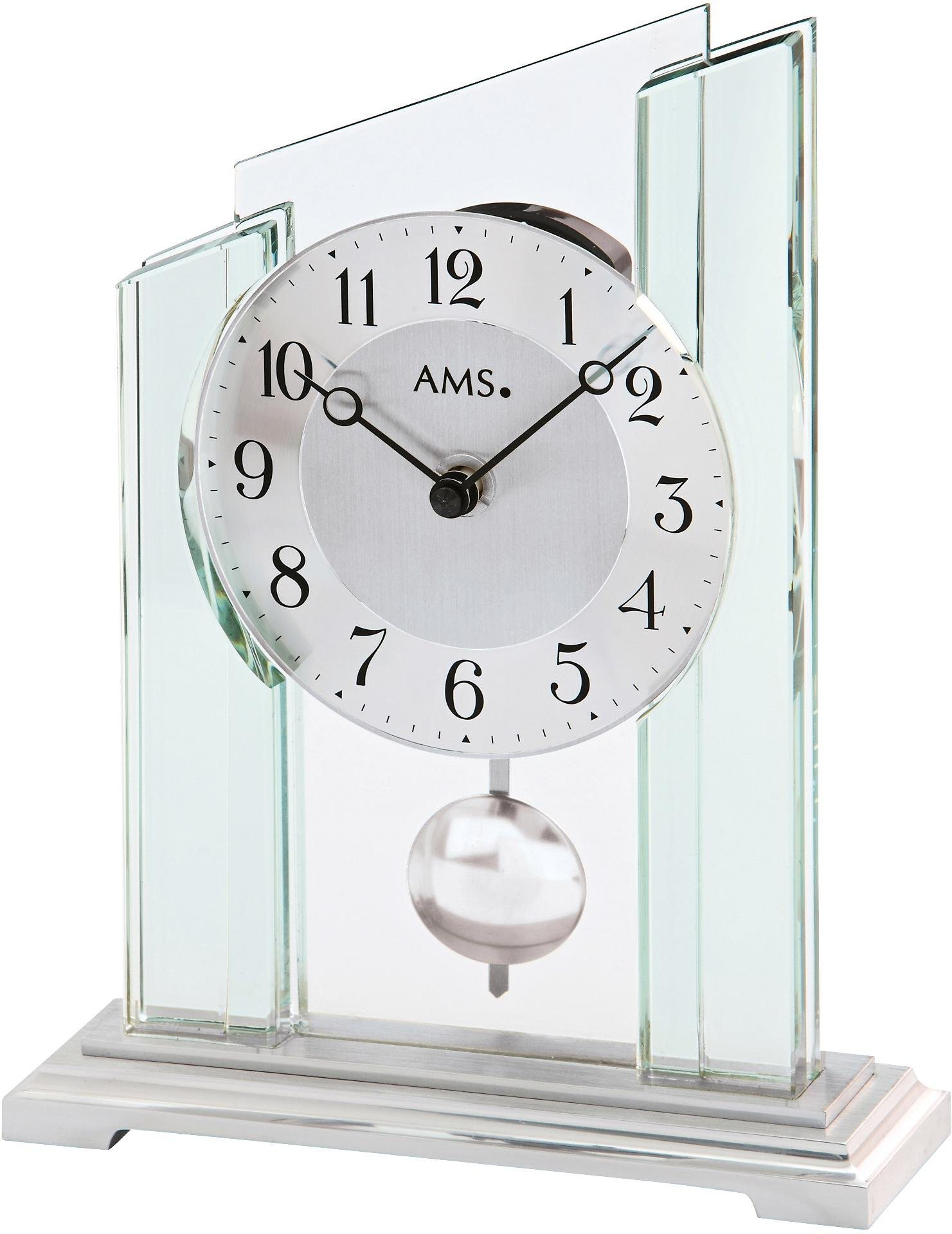 AMS Pendeltischuhr »T1168« | Dekoration > Uhren > Standuhren | Metall - Glas | AMS