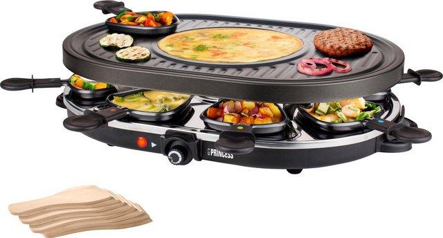 PRINCESS Raclette 8 Oval Grill Party - 162700, 8 Raclettepfännchen, 1200 W | Küche und Esszimmer > Küchengeräte > Raclette | Princess