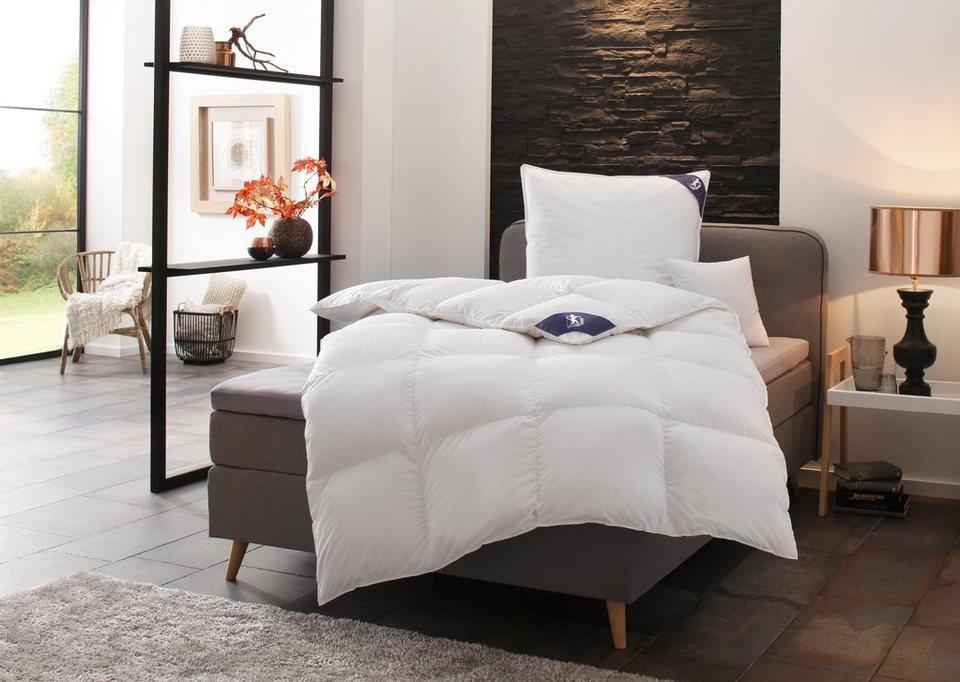 set daunenbettdecke 3 kammer kopfkissen exklusiv spessarttraum warm 100 daune. Black Bedroom Furniture Sets. Home Design Ideas