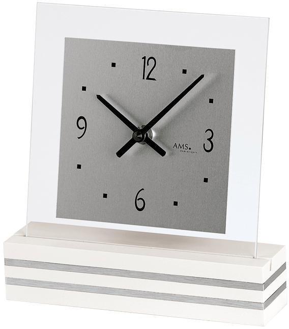 AMS Tischuhr »T1108« | Dekoration > Uhren > Standuhren | Holz - Glas | AMS