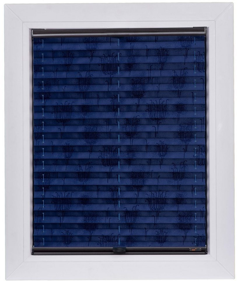 plissee nach ma blue line sunlines lichtschutz mit bohren verspannt anlage wird fest. Black Bedroom Furniture Sets. Home Design Ideas