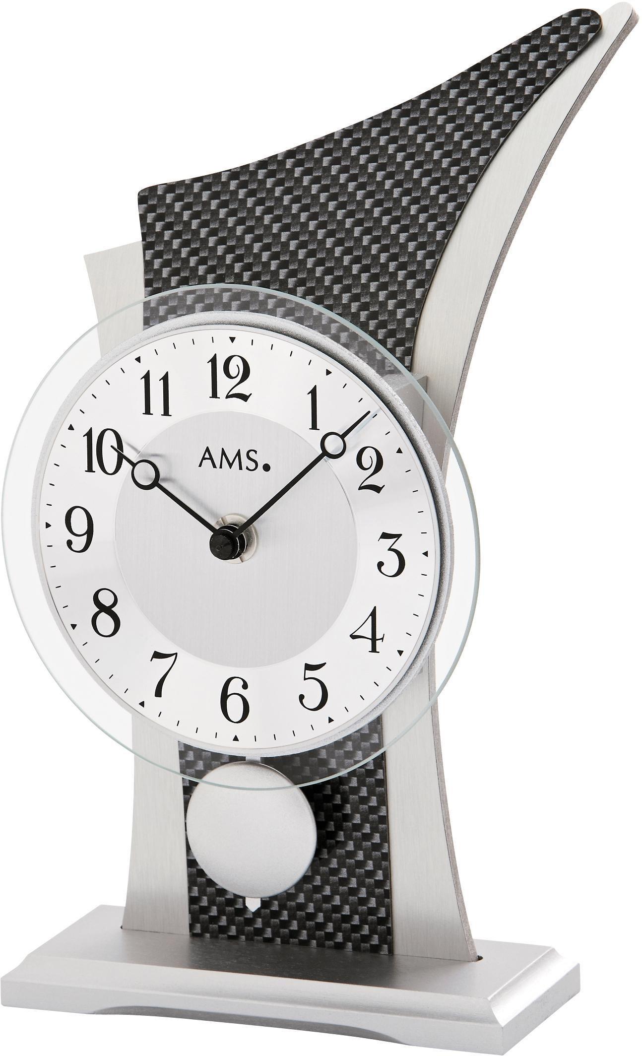 AMS Pendeltischuhr »T1140« | Dekoration > Uhren > Standuhren | Schwarz | Holz | AMS
