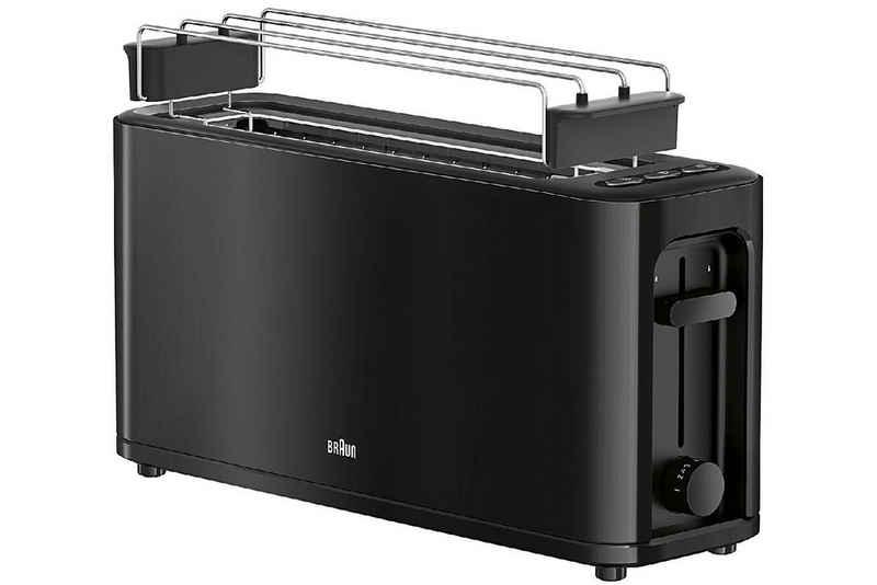 Braun Toaster BRAUN Langschlitztoaster HT 3110 BK schwarz