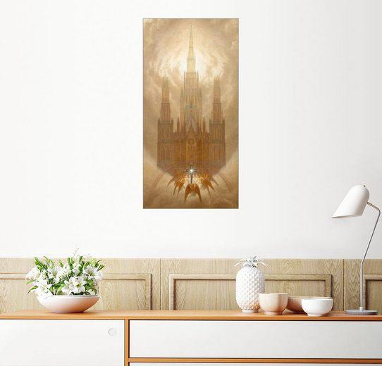 Posterlounge Wandbild - Caspar David Friedrich »Die Kathedrale«