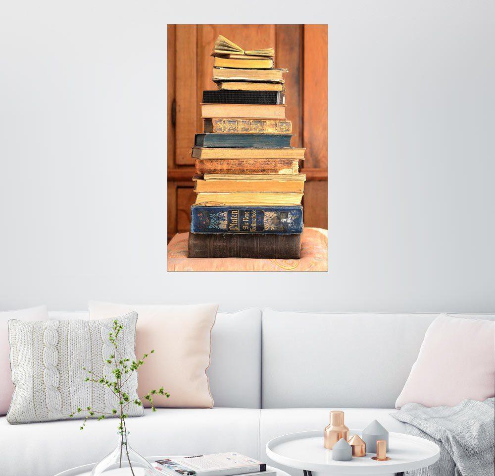 Posterlounge Wandbild - Sarnade »Bücherstapel«