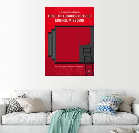 Posterlounge Wandbild - chungkong »No900 My Three Billboards minimal movie poster«
