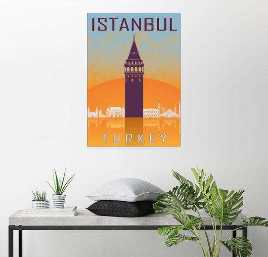 Posterlounge Wandbild »Istanbul - Galataturm«