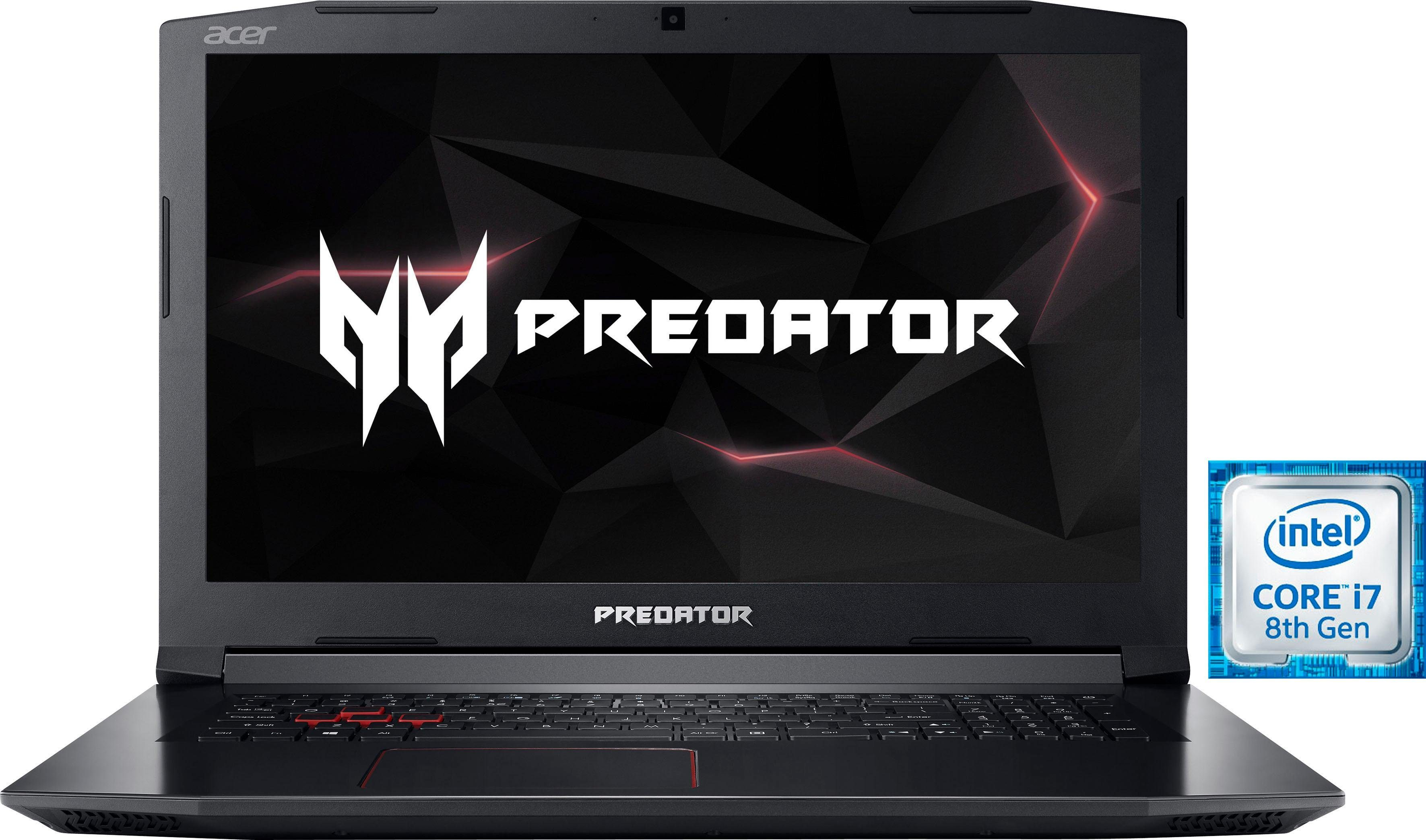 Acer Predator Helios 300 (PH317-52-75L8) Gaming-Notebook (43,9 cm/17,3 Zoll, Intel Core i7, GeForce, 1000 GB HDD, 256 GB SSD)
