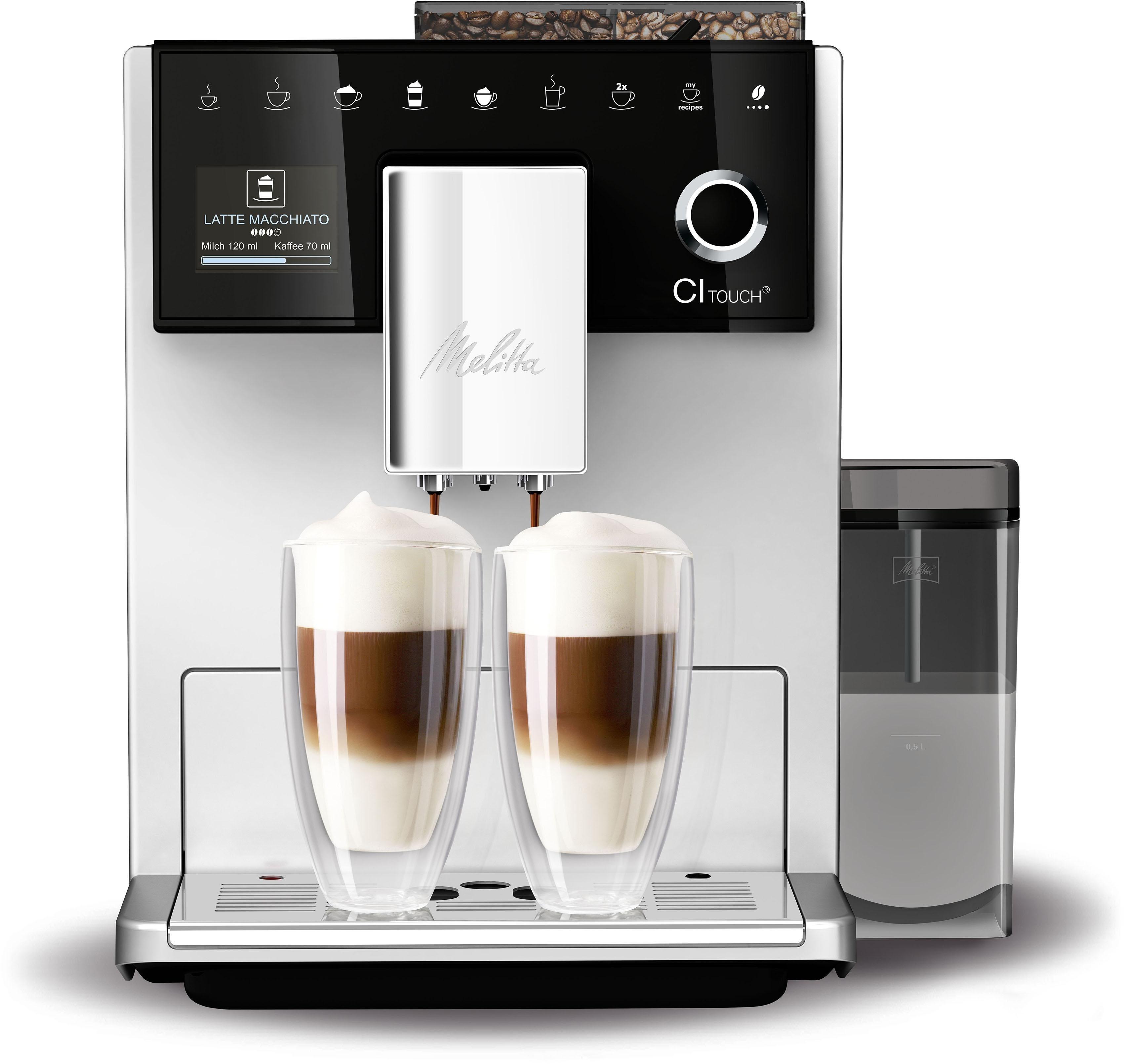 Kaffeevollautomat ® CI Touch® F 630-101, silber/schwarz, Vielfältiger Kaffeegenuss durch insgesamt 10 Kaffeevariationen