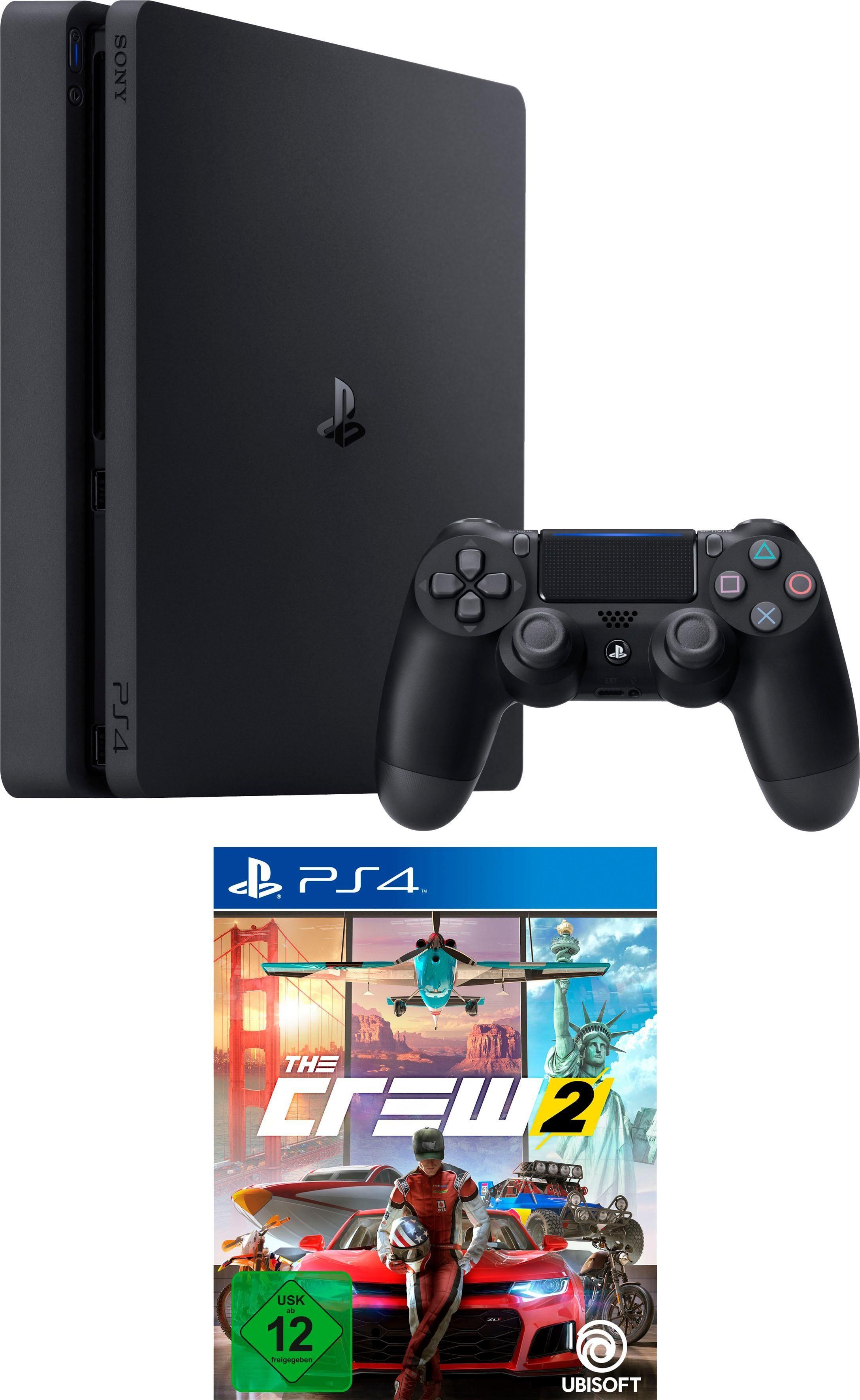 PlayStation 4 Slim (PS4 Slim) (500GB Konsolen-Bundle, inkl. The Crew 2)