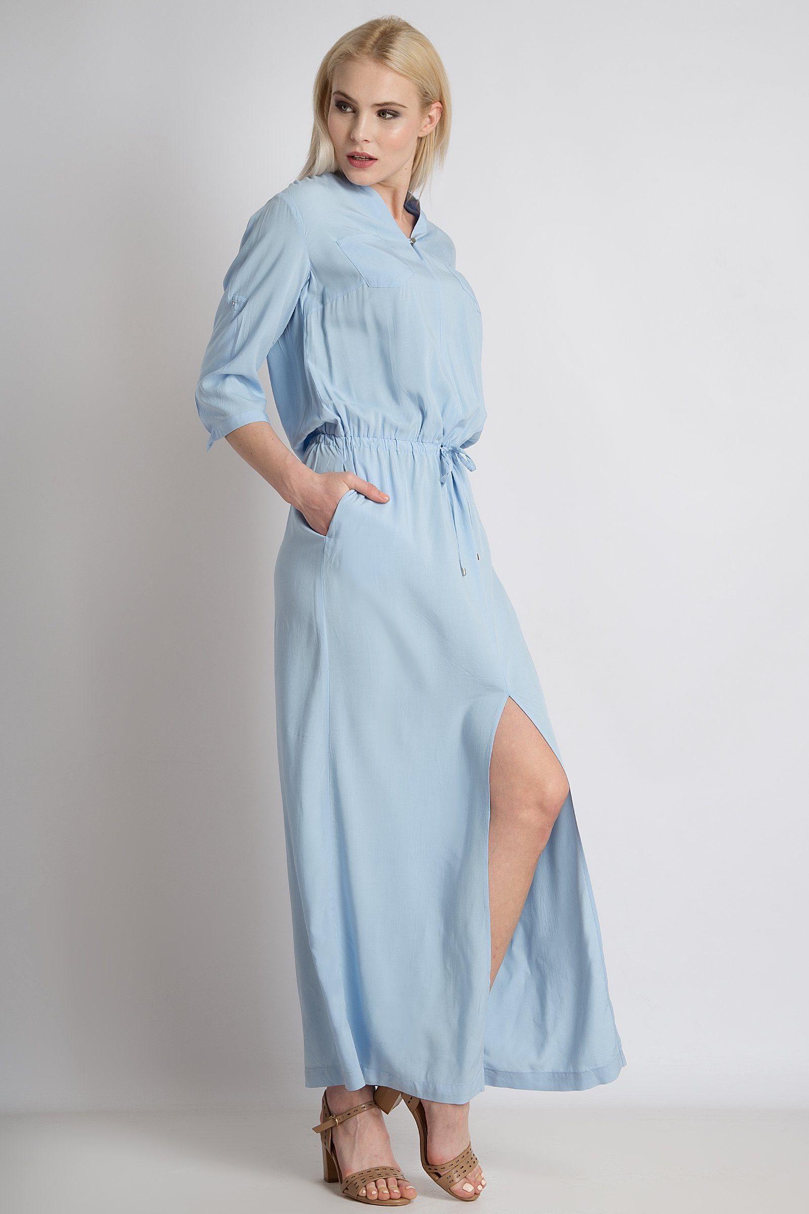 Finn Flare Maxi-Kleid mit Taillenschnürung