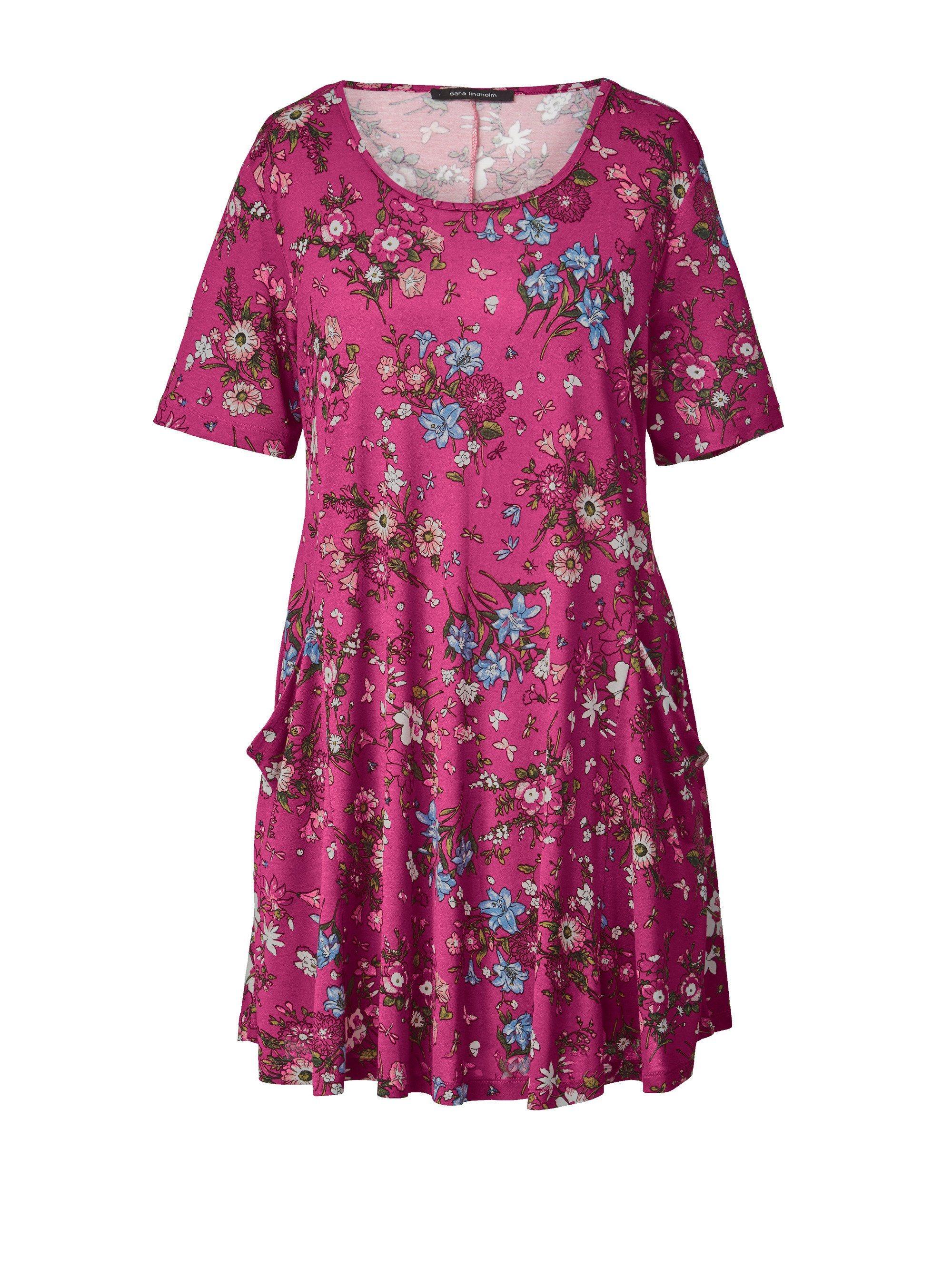 Sara Lindholm by Happy Size Jersey-Tunika mit Blumen-Print | Bekleidung > Tuniken > Sonstige Tuniken | Jersey - Viskose | Sara Lindholm by Happy Size