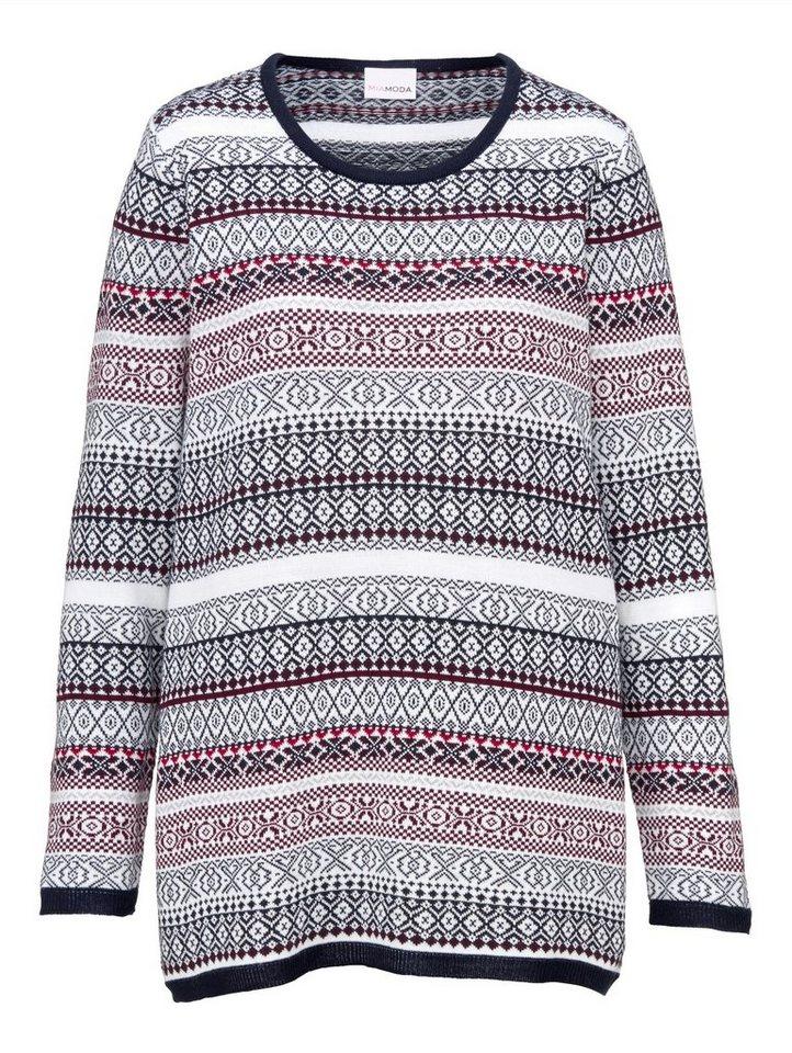 MIAMODA Pullover mit Strickmuster online kaufen | OTTO