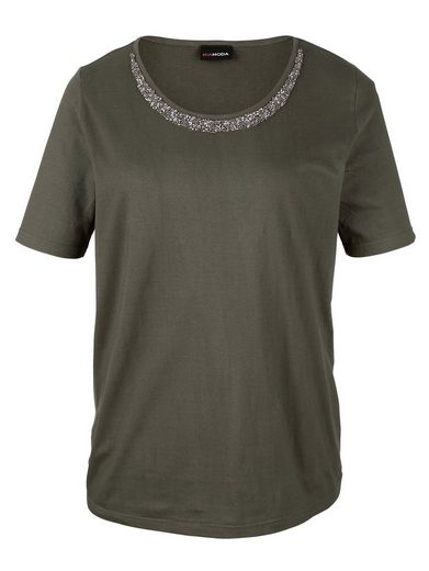 MIAMODA Shirt mit Perlenverzierung