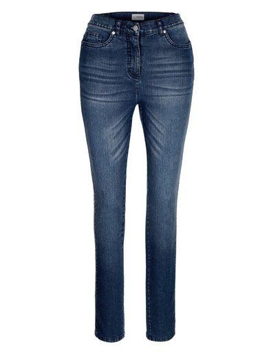 MIAMODA Jeans mit Paillettenband seitlich am Bein