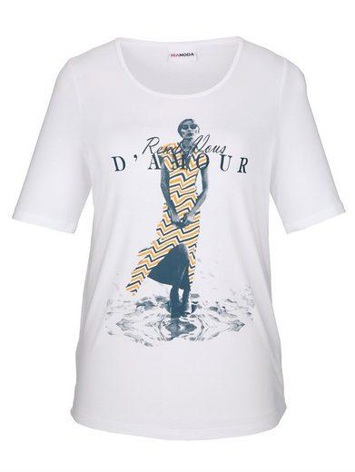 MIAMODA Shirt mit femininem Druck-Motiv