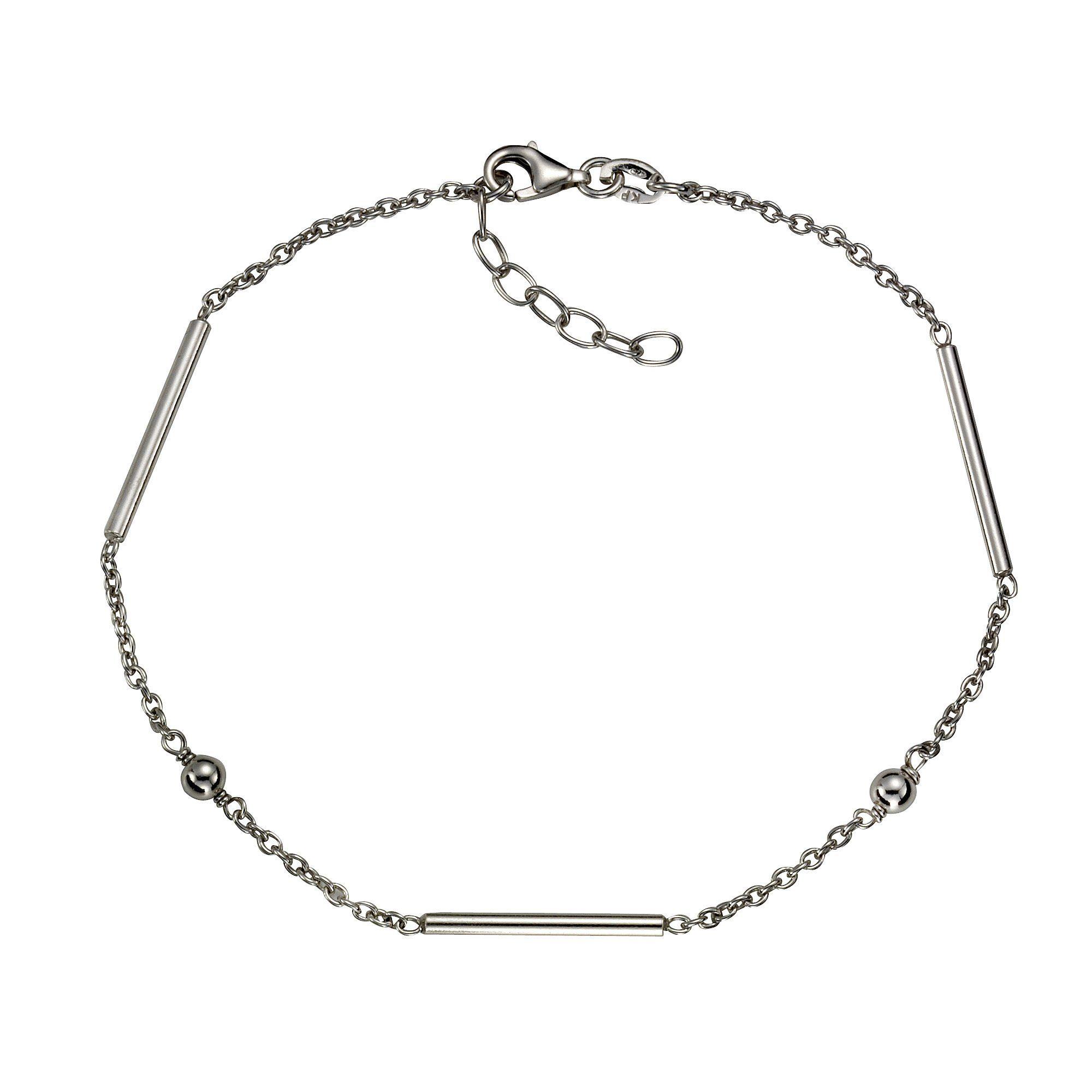 Zeeme Fußkette »925/- Sterling Silber rhodiniert 23cm«