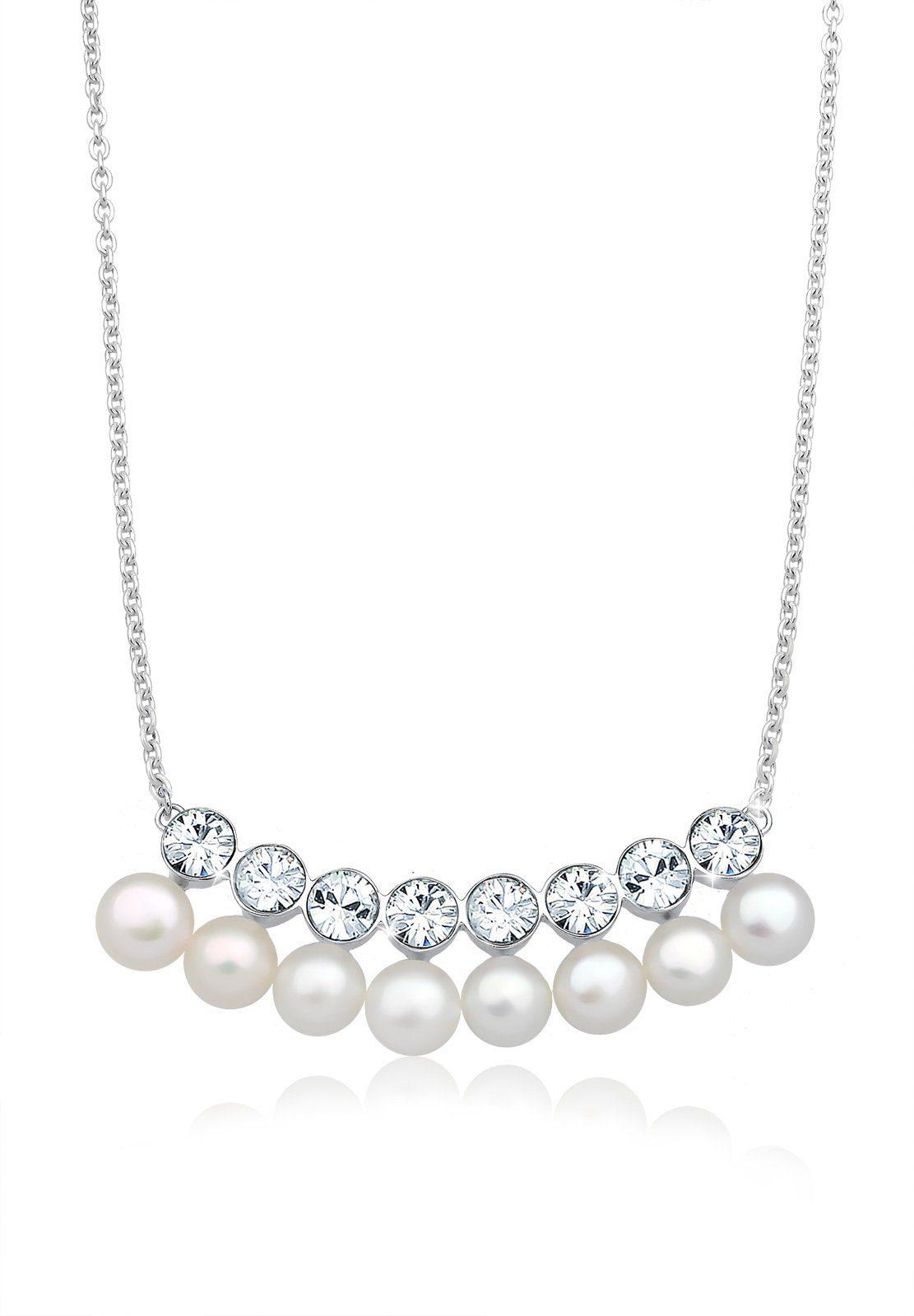 Elli Perlenkette »Collier Swarovski® Kristalle 925 Sterling Silber«