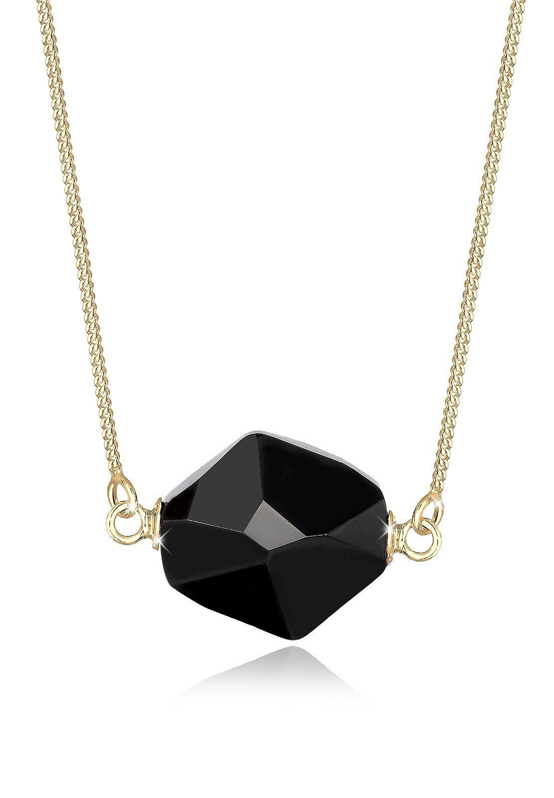 Elli Collierkettchen »Klassisch Swarovski® Kristalle 925 Sterling Silber«