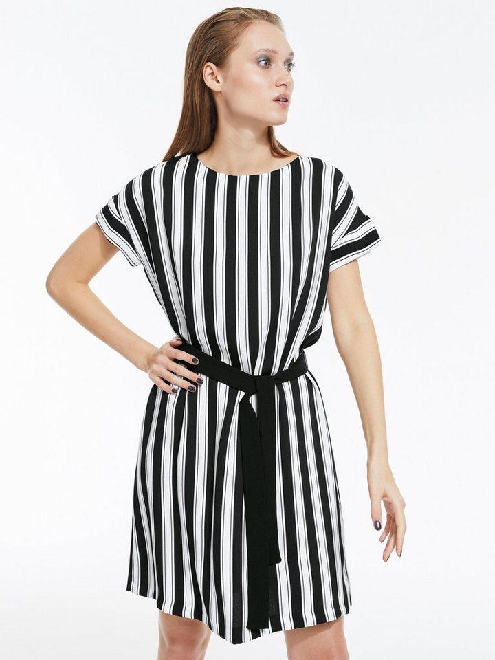 28059ecde6c0b5 heine STYLE Kleid mit Kontrastbindegürtel kaufen | OTTO