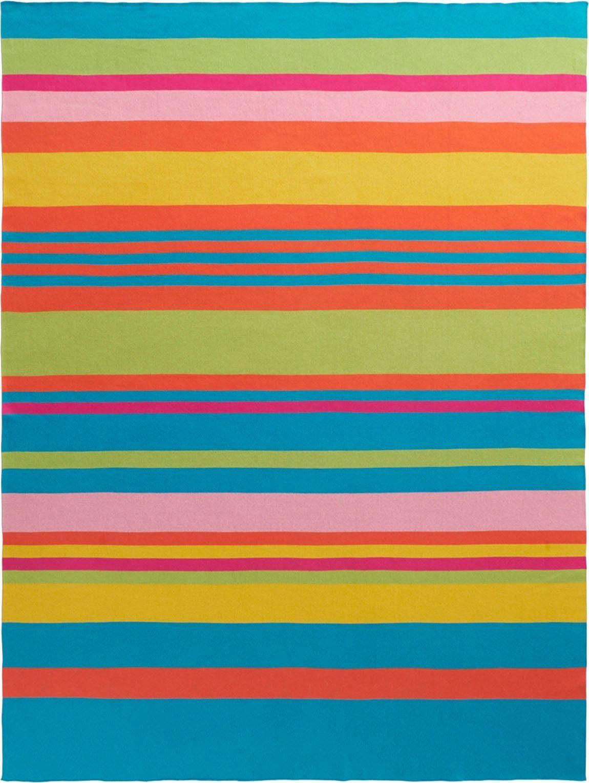 Plaid »Colour Blocking«, BIEDERLACK, mit bunten Streifen