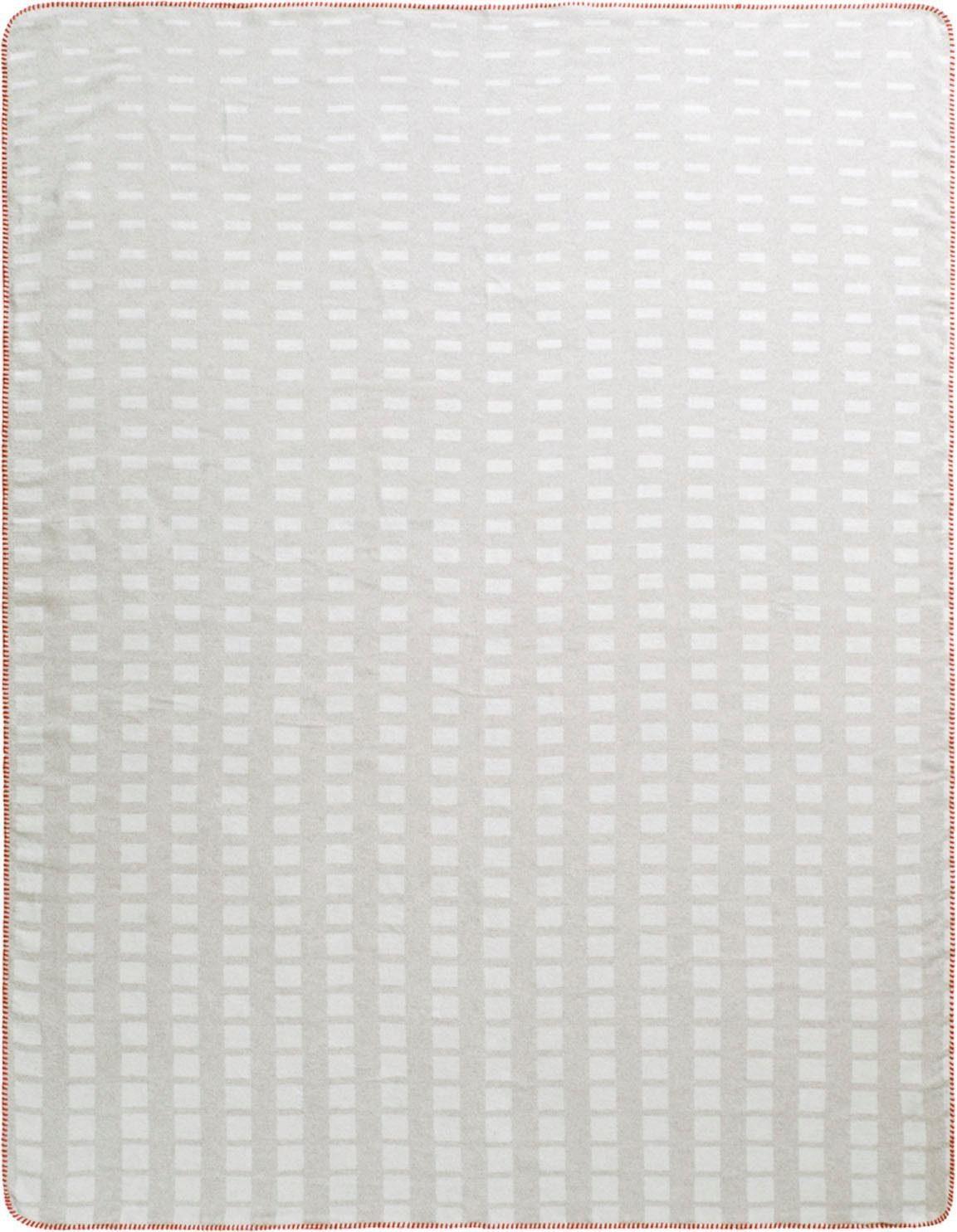 Wohndecke »Shading Squares«, BIEDERLACK, mit farbigem Zierstich