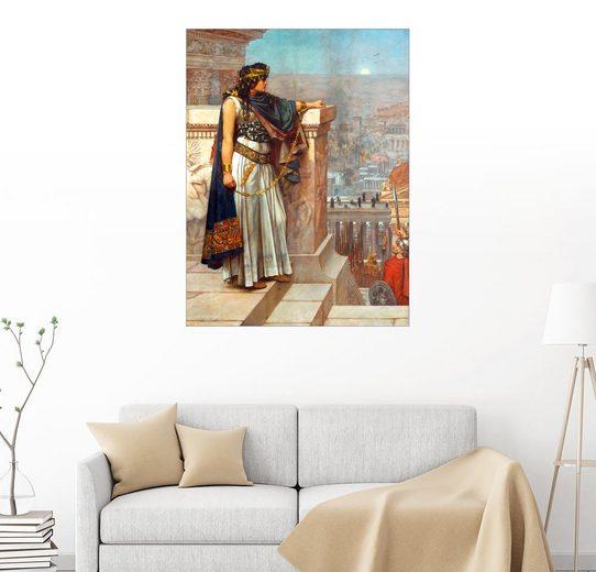 Posterlounge Wandbild - Herbert Gustave Schmalz »Syrien: Königin Zenobia sieht nach Palmyra«
