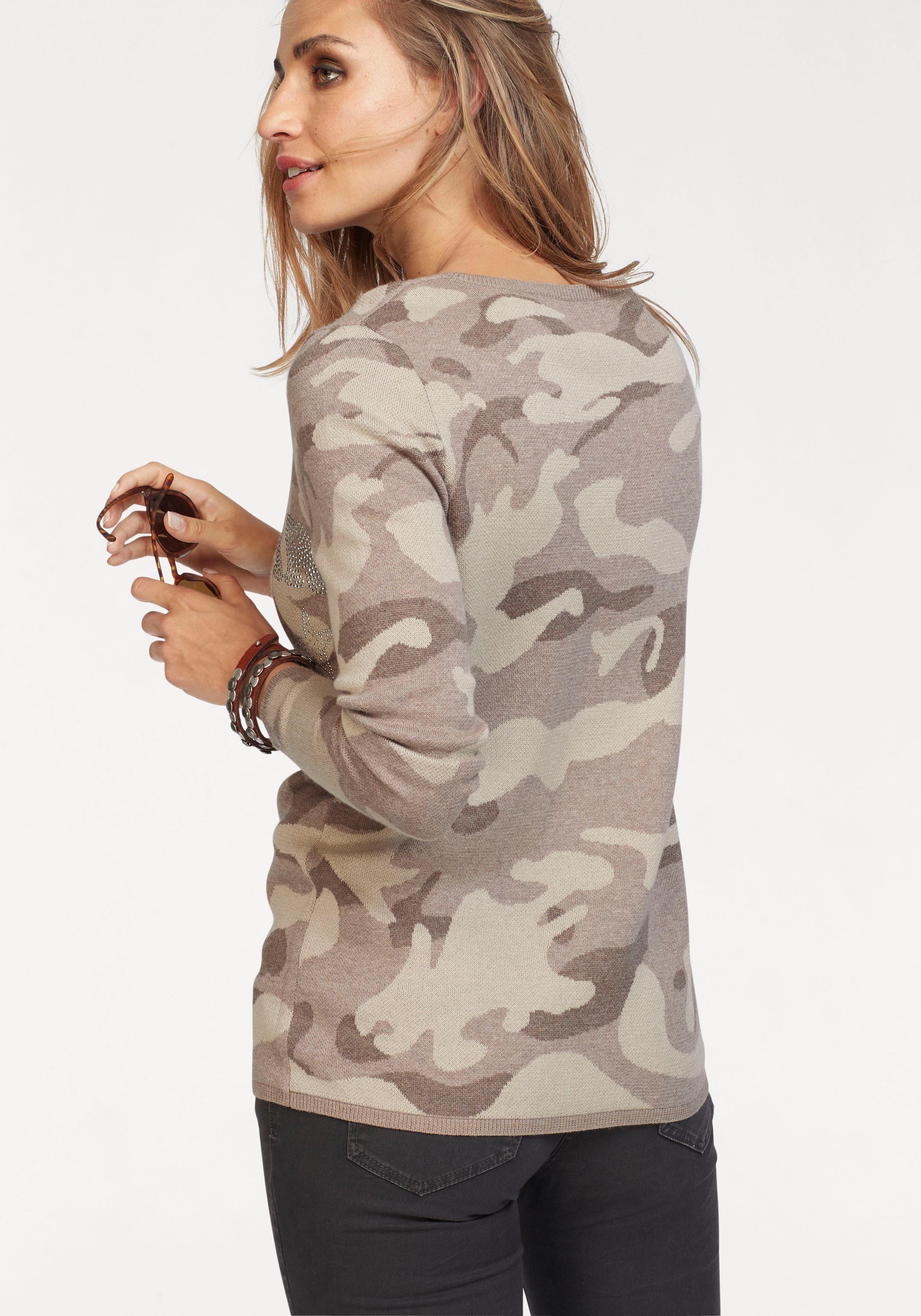 Aniston CASUAL Rundhalspullover mit Kapuze kaufen | OTTO
