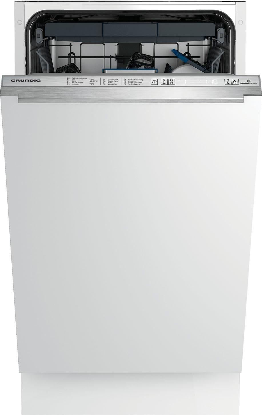 Grundig vollintegrierbarer Geschirrspüler, GSV 41925, 8,7 l, 11 Maßgedecke, 45 cm breit