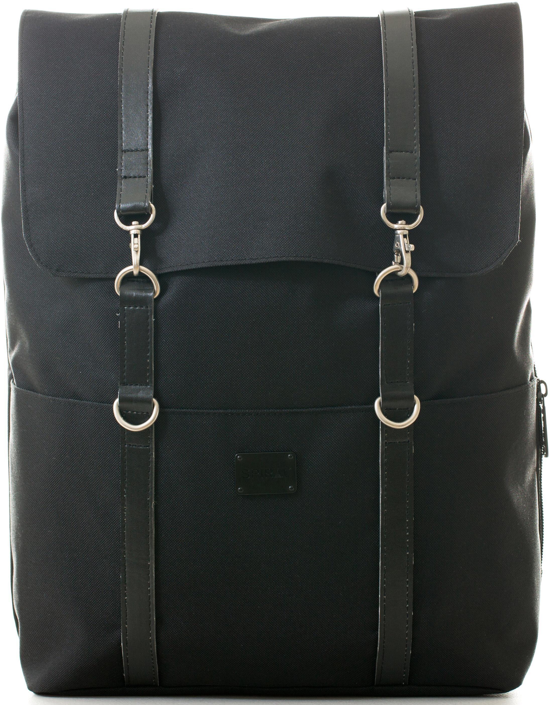 Spiral® Rucksack mit Laptopfach, »Carlton, Classic Black«