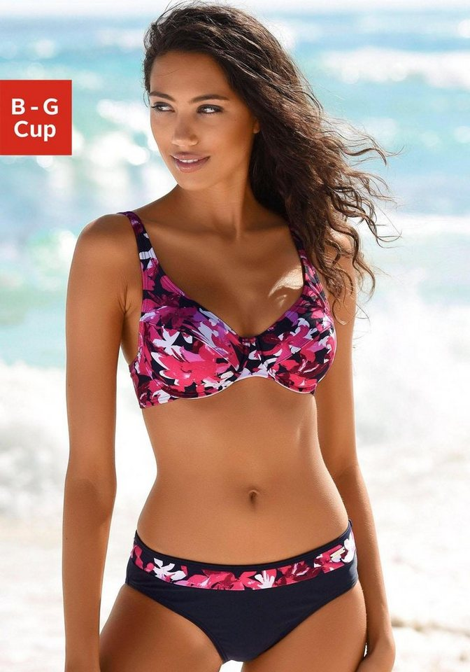 Bademode - petite fleur Bügel Bikini mit floralem Druck › rot  - Onlineshop OTTO