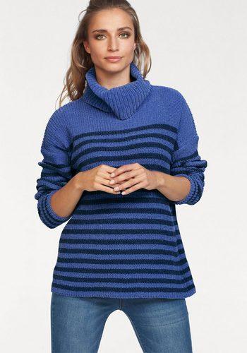 Damen Aniston by BAUR Rollkragenpullover im Streifendessin – NEUE KOLLEKTION blau | 08808747307084