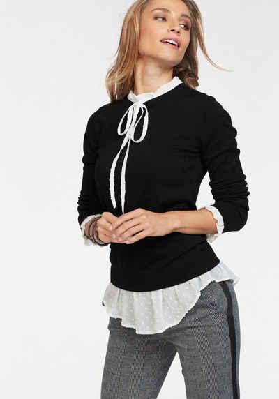 reputable site 6aaf0 c228a 2-in-1 Pullover für Damen » Pullover mit Bluseneinsatz ...
