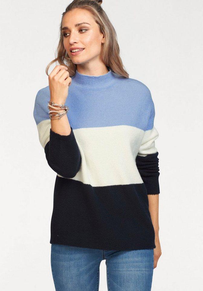 Aniston by BAUR Stehkragenpullover im Colorblocking