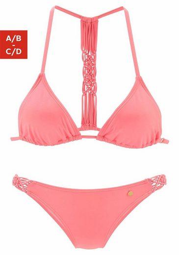 LASCANA Triangel-Bikini im Makramee-Style
