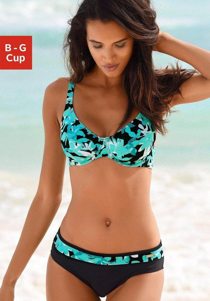 Bademode - petite fleur Bügel Bikini mit floralem Druck › blau  - Onlineshop OTTO