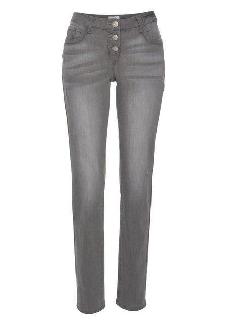 Hosen - Aniston by BAUR Boyfriend Jeans mit Knopfverschluss › grau  - Onlineshop OTTO