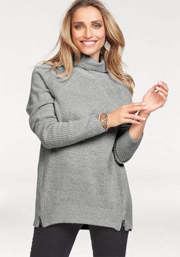 Damen Aniston by BAUR Rollkragenpullover mit 2 Reißverschlüssen – NEUE KOLLEKTION grau | 08808747307220