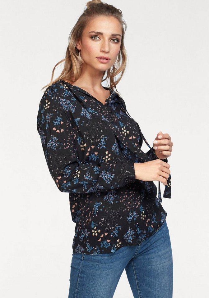 Damen Aniston by BAUR Schlupfbluse mit floralem Druck schwarz   08698700188498